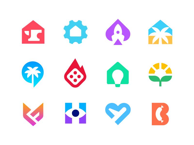 deividas bielskis negativespace logos collection dribbble
