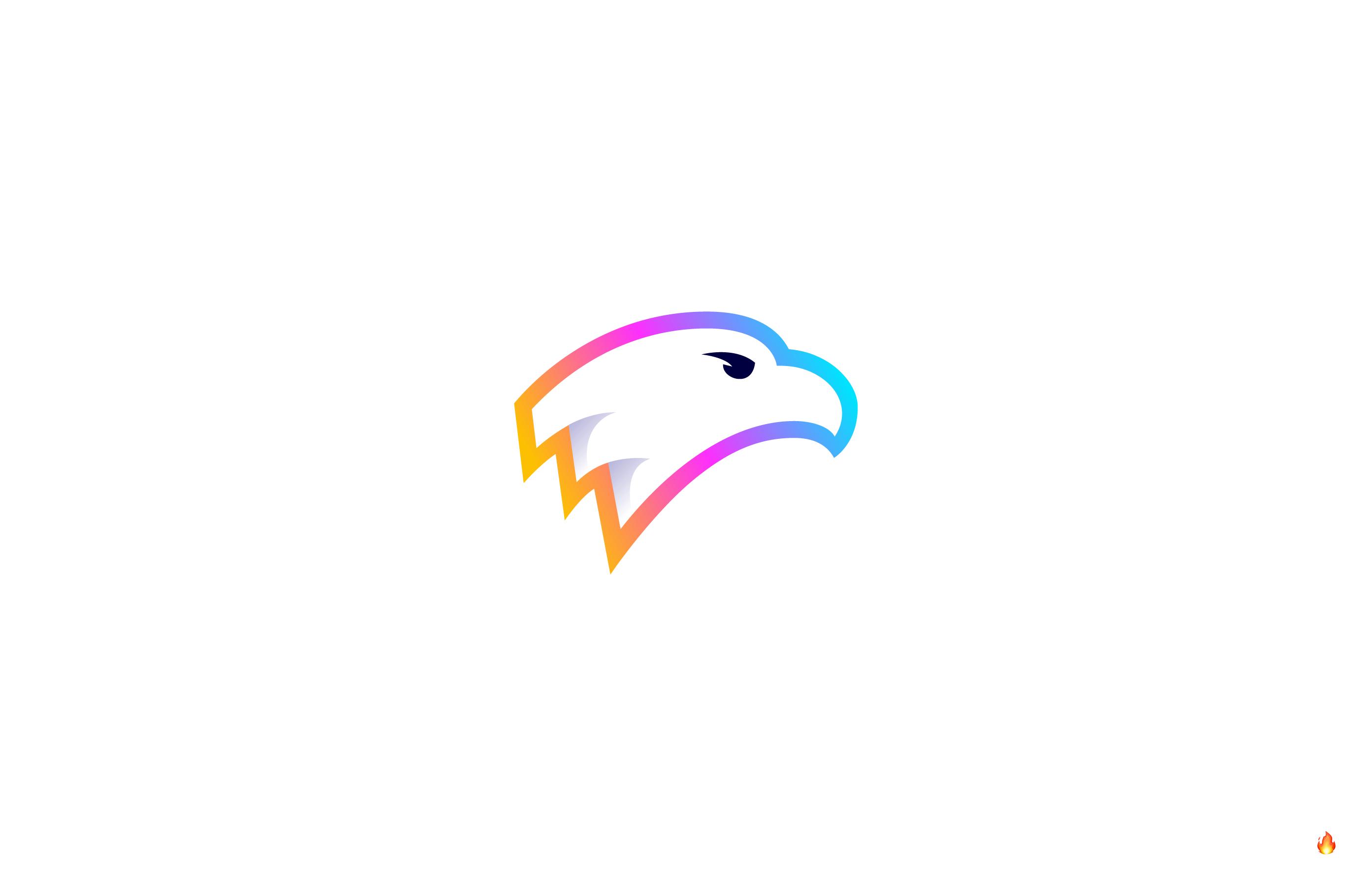 eagle logo design gradient