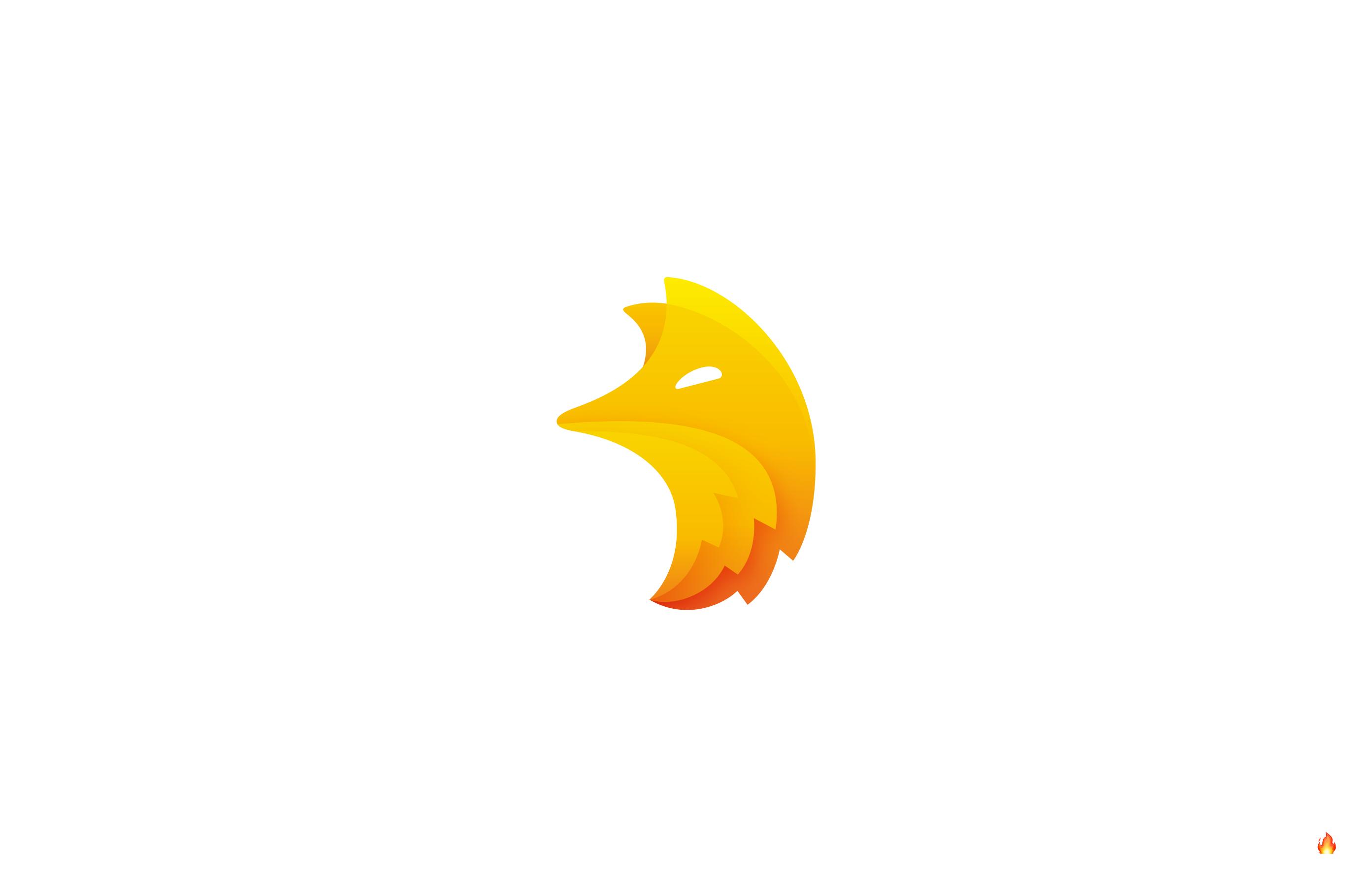 flame fox gradient logo
