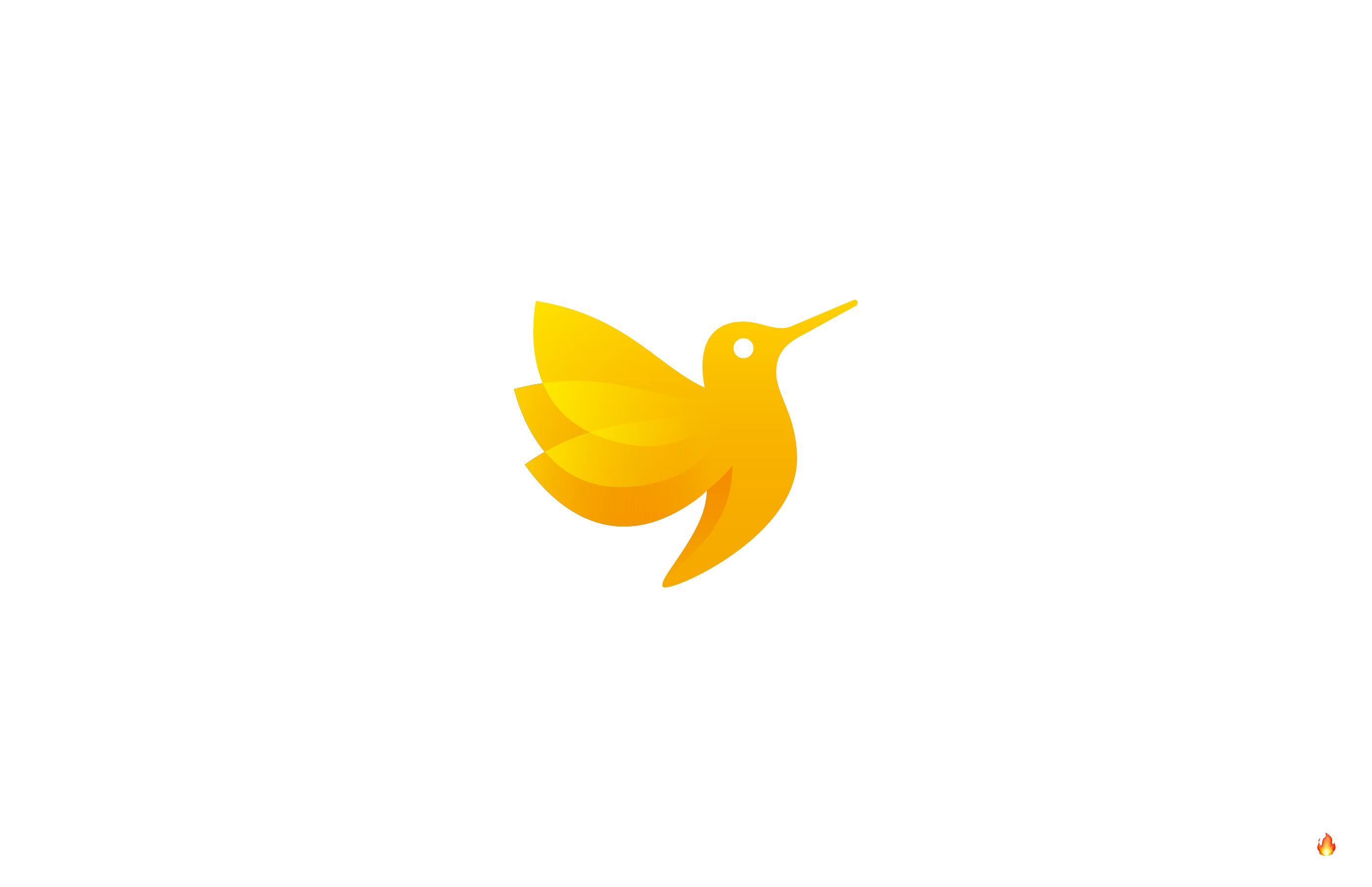 hummingbird logo design