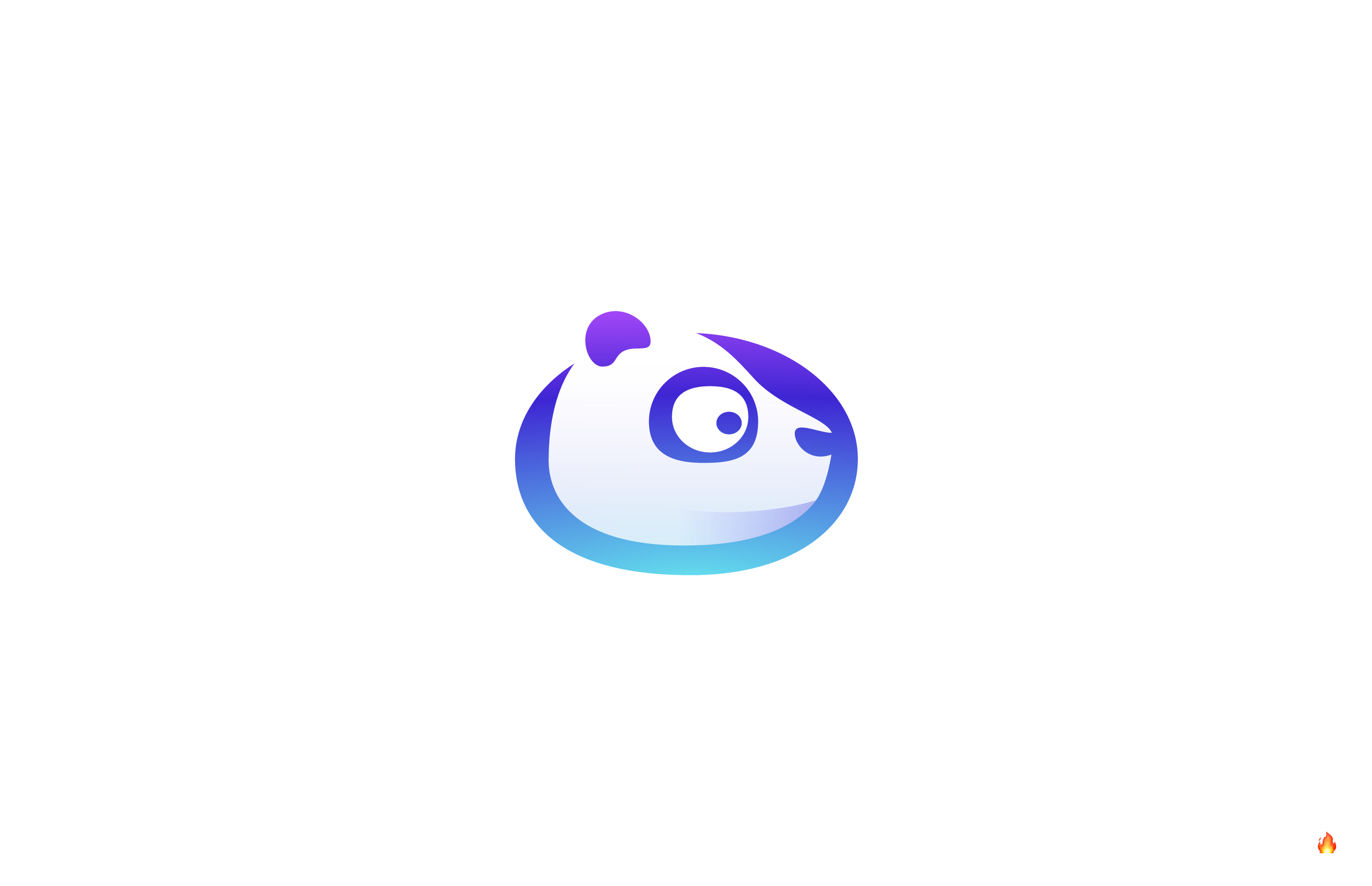 panda logo design gradient