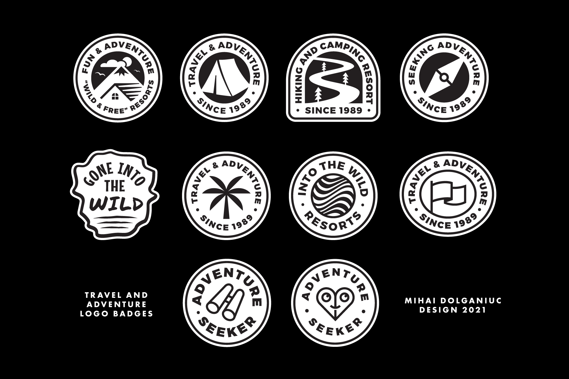 travel adventure collection badges for sale editable customise