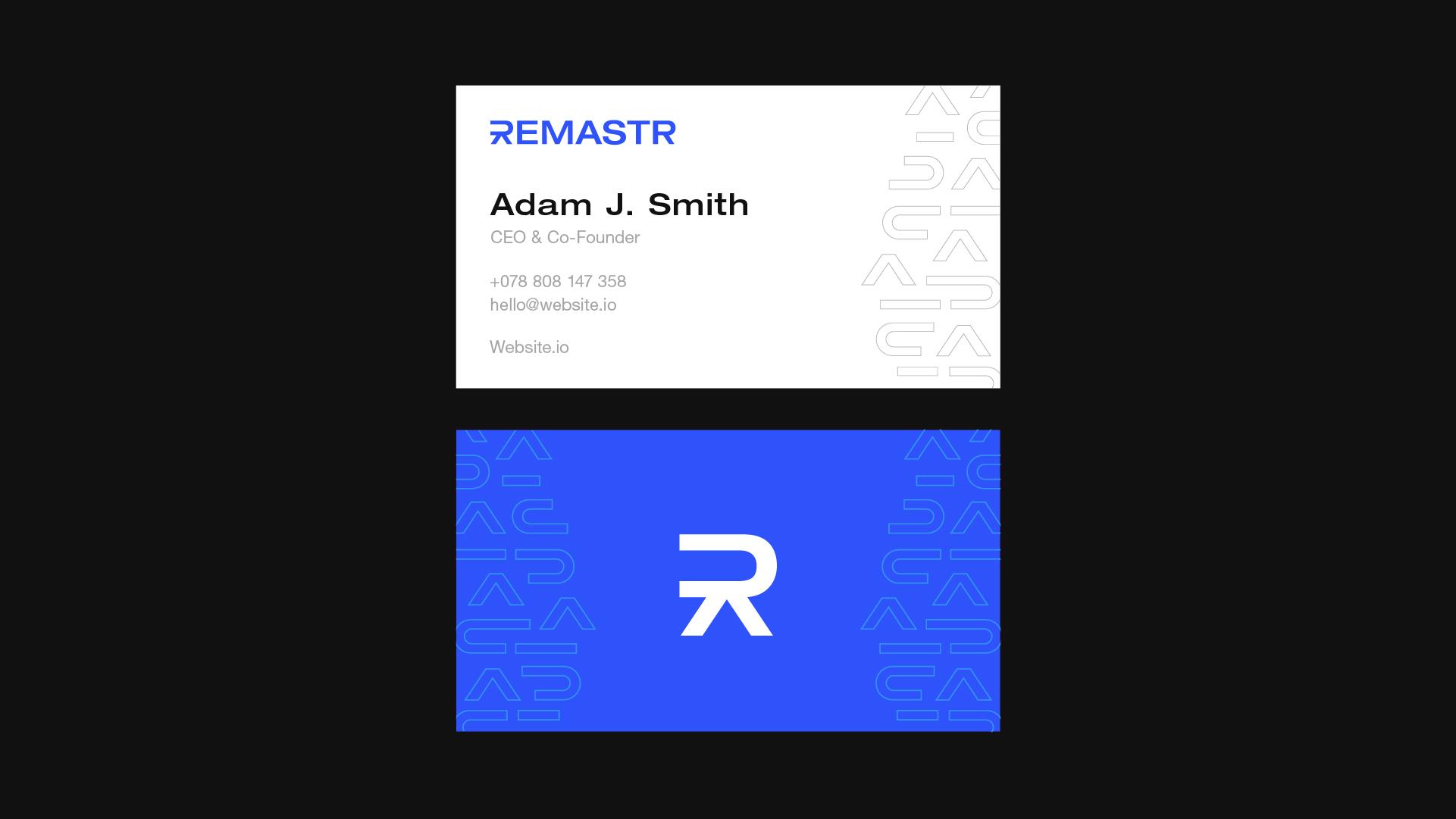 remastr business cards