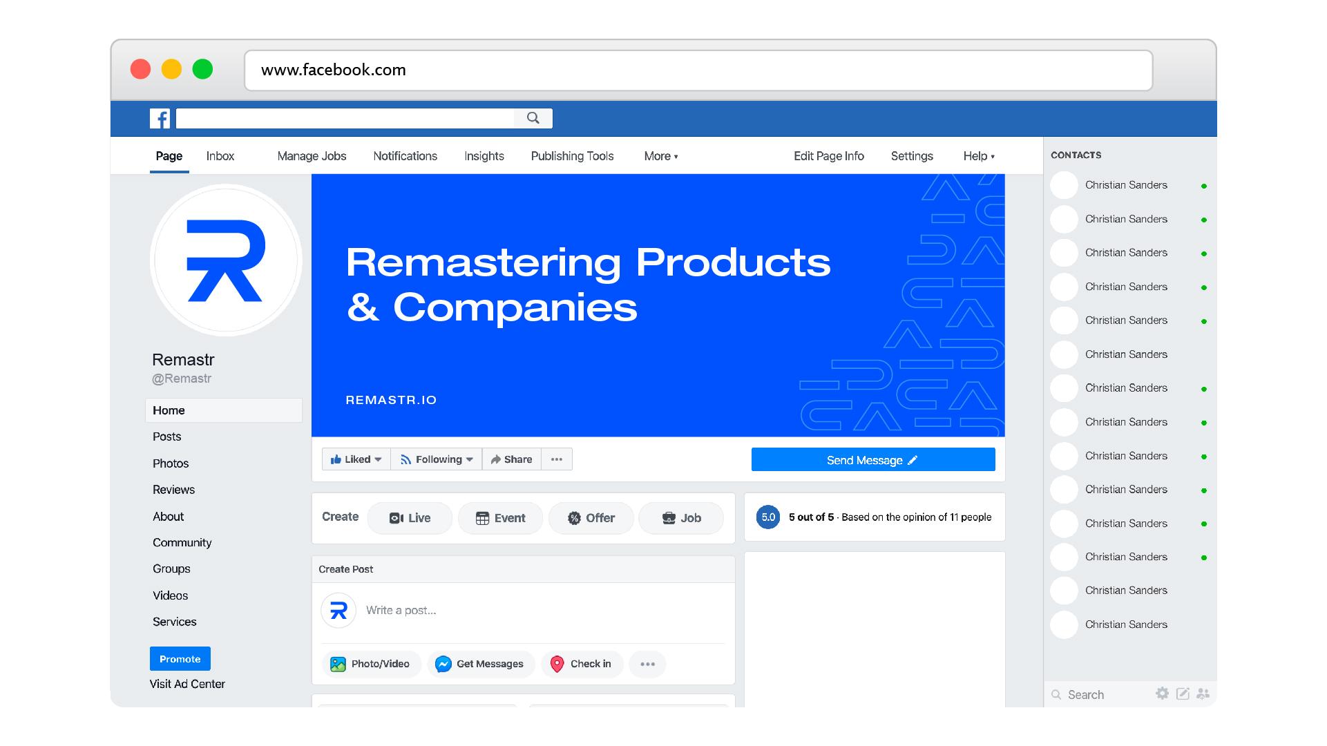 remastr facebook cover